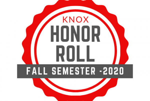 Badge Showing Knox Honor Roll - Fall Semester 2020